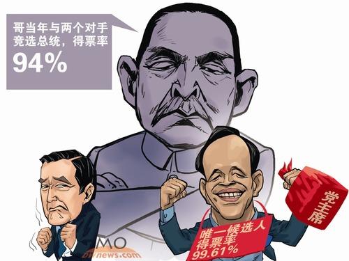 """习近平电贺朱立伦 """"反台独""""敲击2016"""