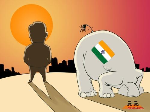 中国龙堕地 印度象绝难升天