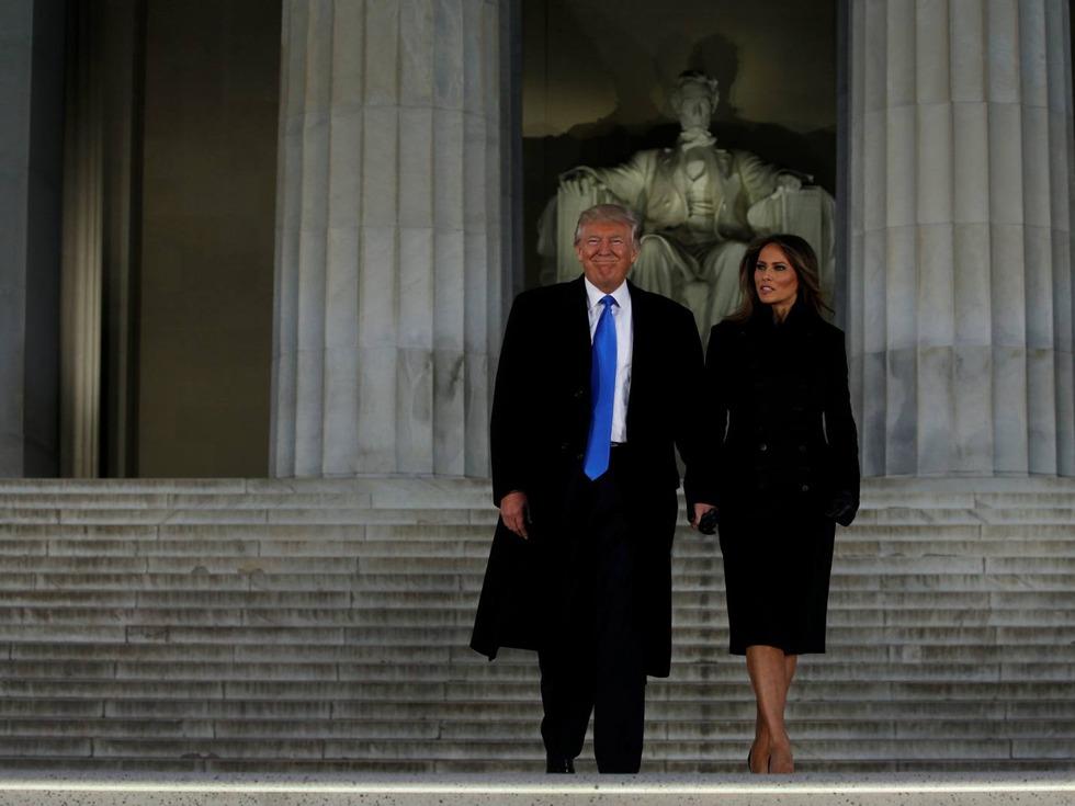 特朗普抵达华盛顿准备就职