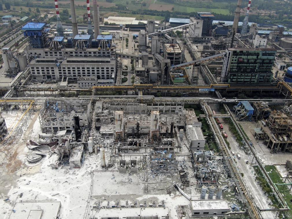 爆炸的河南气化厂曾多次挨罚 搜救结束15人遇难[图集]
